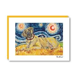 Van Growl Mastiff  Note Card