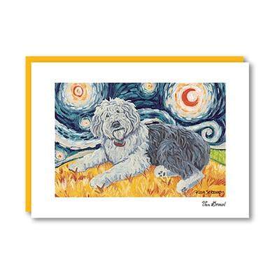 Van Growl Old English Sheepdog  Note Card