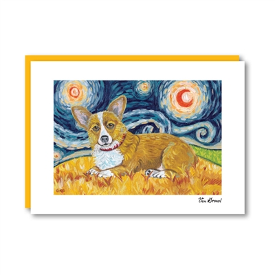 Van Growl Pembroke Welsh Corgi  Note Card