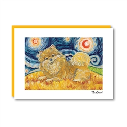 Van Growl Pomeranian  Note Card