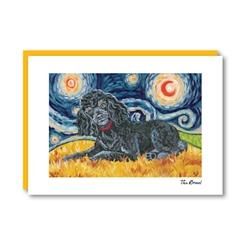 Van Growl Poodle Black  Note Card