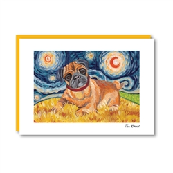 Van Growl Pug  Note Card
