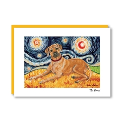 Van Growl Rhodesian Ridgeback Note Card