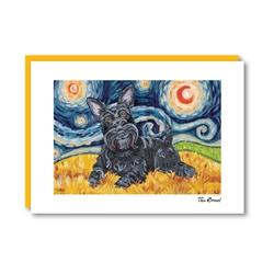 Van Growl Scottish Terrier Note Card