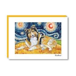 Van Growl Shetland Sheepdog Note Card