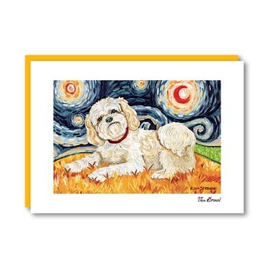 Van Growl Shih Tzu Blonde Note Card