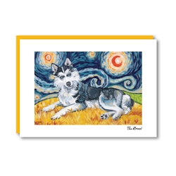 Van Growl Siberian Husky Note Card