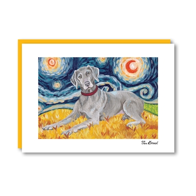 Van Growl Weimaraner Note Card