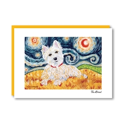 Van Growl West Highland Terrier Note Card