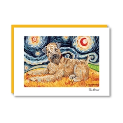 Van Growl Wheaten Terrier Note Card