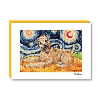 Van Growl Wheaten Terrier Note Card