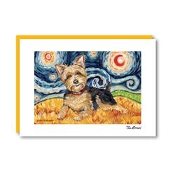 Van Growl Yorkshire Terrier Note Card