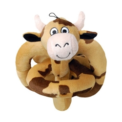Mini Happy Brown Cow Loopies - 6""