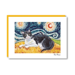 Van Meow Shorthaired Tuxedo Note Card