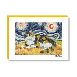Van Meow Longhaired Calico Note Card