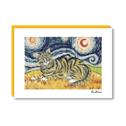 Van Meow Shorthaired Tabby Note Card
