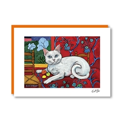 CATISSE Shorthaired White Note Card