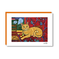 CATISSE Shorthaired Orange Note Card