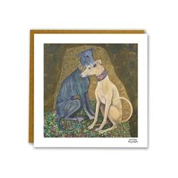 """Klimutt """"Greyhound Kiss"""" Note Card"""