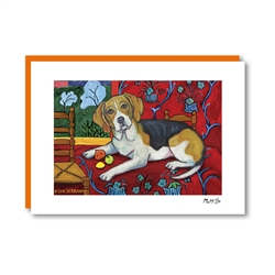 Muttisse Beagle Note Card