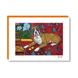 Muttisse Boxer Note Card