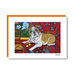 Muttisse Bulldog Note Card