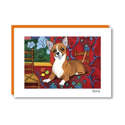 Muttisse Chihuahua Note Card
