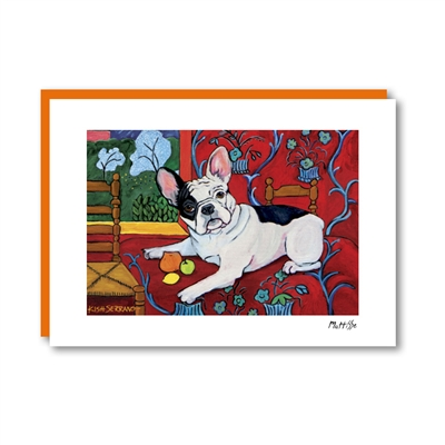 Muttisse French Bulldog Note Card