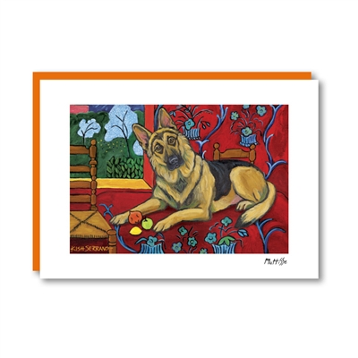 Muttisse German Shepherd Note Card
