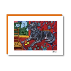 Muttisse Labrador Black Note Card