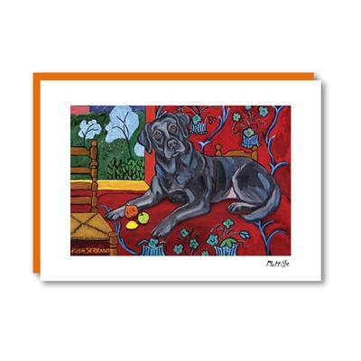 Muttisse Labrador Black Note Card