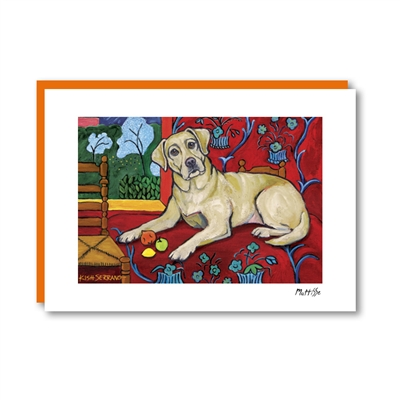 Muttisse Labrador Yellow Note Card