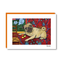 Muttisse Pug Note Card