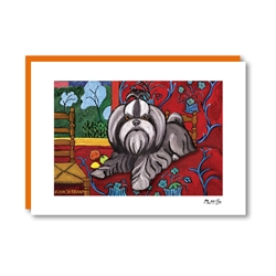 Muttisse Shih Tzu Note Card