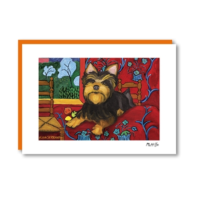Muttisse Yorkshire Terrier Note Card