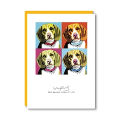 Woofhol Beagle Note Card