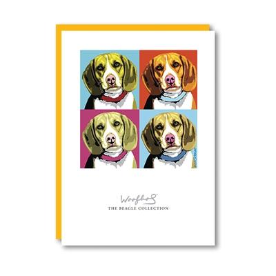 Woofhol Beagle Note Card