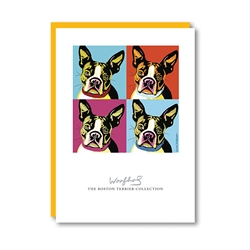 Woofhol BostonTerrier Note Card