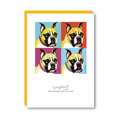 Woofhol Boxer Note Card