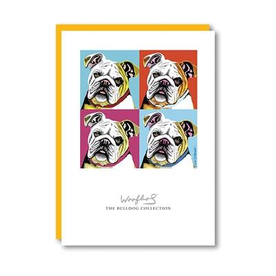 Woofhol Bulldog Note Card