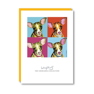 Woofhol Chihuahua Note Card