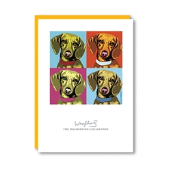 Woofhol Dachshund Note Card