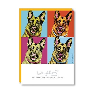 Woofhol German Shepherd Note Card