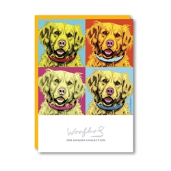 Woofhol Golden Retriever Note Card