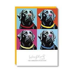 Woofhol Labrador Black Note Card