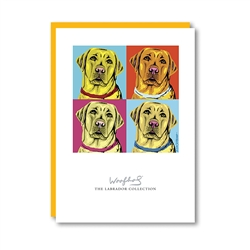 Woofhol Labrador Yellow Note Card