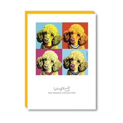 Woofhol Poodle Note Card