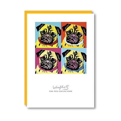 Woofhol Pug Note Card