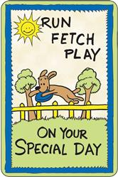 Crunch Card - Run, Fetch, Play, Special Day