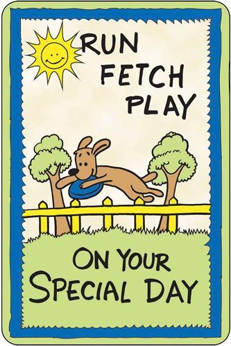 Crunch Card - Run, Fetch, Play, Special Day